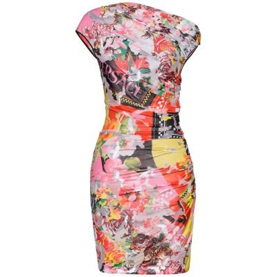 VERSACE ミニワンピース&ドレス コーラル 44 レーヨン 83% / ナイロン 17% ミニワンピース&ドレス