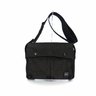 【中古】ポーター PORTER SMOKY スモーキー ショルダーバッグ 鞄 ブラック 黒 SSAW メンズ レディース