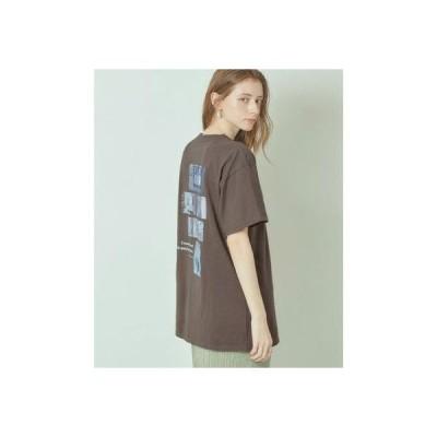 ティティベイト titivate フォトプリントオーバーサイズTシャツ (チャコール)