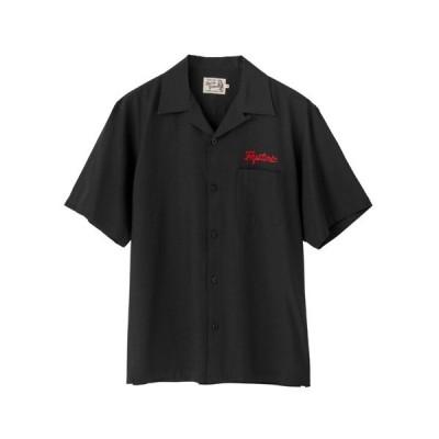 シャツ ブラウス MEMBERS ONLY刺繍 ボーリングシャツ