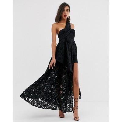 エイソス レディース ワンピース トップス ASOS EDITION broderie dress with maxi skirt overlay