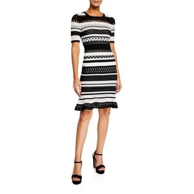 ミリー レディース ワンピース トップス Striped Pointelle Mermaid Dress