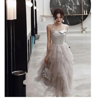 ウエディングドレス ロング丈ドレス 不規則 パーティードレス 結婚式 ワンピース 大きいサイズ 20代30代40代 きれいめ お呼ばれ 卒業式 発表会 披露宴 上品