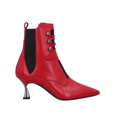 カサデイ CASADEI ショートブーツ レッド 35 革 / 伸縮繊維 ショートブーツ