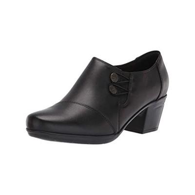 Clarks Women's Emslie Warren Slip-on Loafer,Black Leather,9 W US