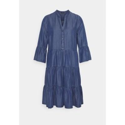 モア アンド モア レディース ワンピース トップス DRESS SHORT - Day dress - mid blue denim mid blue denim
