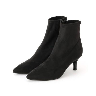 ESPERANZA / グリッターヒールフィットショートブーツ WOMEN シューズ > ブーツ