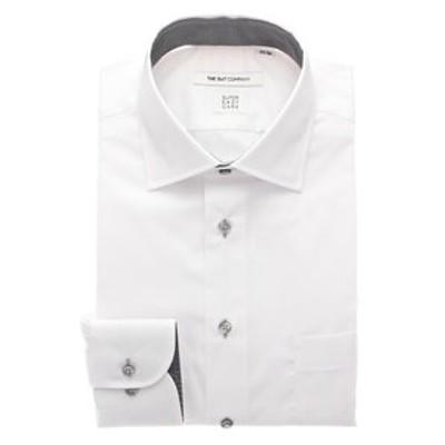 【SUPER EASY CARE・再生繊維】ワイドカラードレスシャツ〔EC・FIT〕
