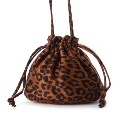 ヴィータフェリーチェ VitaFelice 巾着ショルダー バッグ ミニショルダーバッグ レディース巾着バッグ ミニバッグ (BROWN)