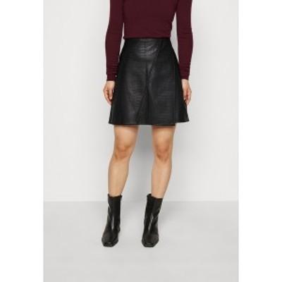 ドロシー パーキンス レディース スカート ボトムス PETITES MINI SKIRT - A-line skirt - black black