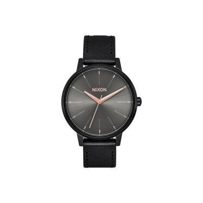 ニクソン NIXON Kensington Leather (Black / Gunmetal)