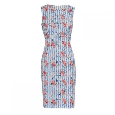 ジーナ バッコーニ Gina Bacconi レディース ワンピース ワンピース・ドレス Savera Stripe Shift Dress Multi-Coloured