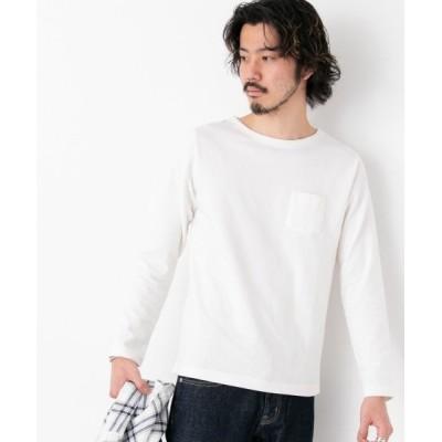 【アーバンリサーチサニーレーベル】 ポケット付きロングTシャツ メンズ ホワイト L URBAN RESEARCH Sonny Label