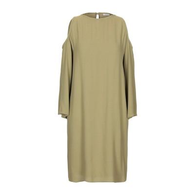 GOLD CASE ミニワンピース&ドレス ミリタリーグリーン 40 レーヨン 100% ミニワンピース&ドレス