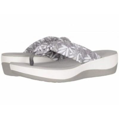 Clarks クラークス レディース 女性用 シューズ 靴 サンダル Arla Glison Grey/White Floral Textile【送料無料】