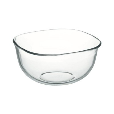 iwaki(イワキ) 耐熱ガラス ボウル 角型 外径20×20cm 2.2L KBC334