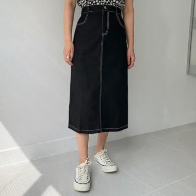 ENVYLOOK レディース スカート Stitch Long Skirt