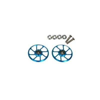 【送料全国一律270円】イーグル(EAGLE)/MINI4-RW005-LBL/超軽量19mm8スポークローラーホイルV2:ミニ4用(ライトブルー)