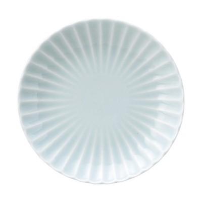 (業務用・18cm)かすみ 18cm丸皿 青白(入数:5)