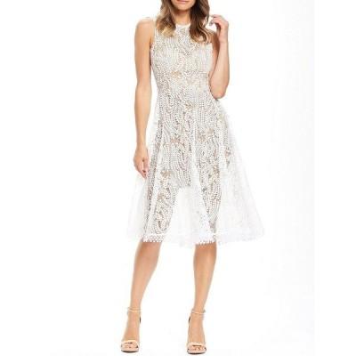 ドレスザポプレーション レディース ワンピース トップス Shane Sleeveless Lace Dress Off White/Nude