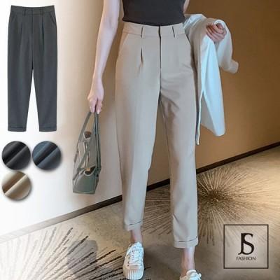 ロングパンツ 全3色 無地 スリムスラックスパンツ ロングパンツ ボトムス シンプル 大人カジュアル デイリーおしゃれ オフィスカジュアル JSファッション