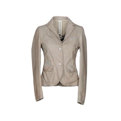 DELAN テーラードジャケット ライトグレー 46 革 100% テーラードジャケット