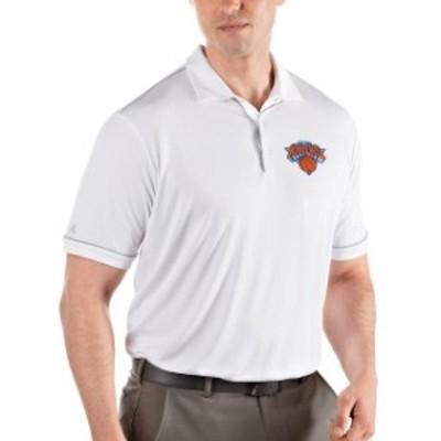 Antigua アンティグア スポーツ用品  Antigua New York Knicks White/Silver Salute Polo