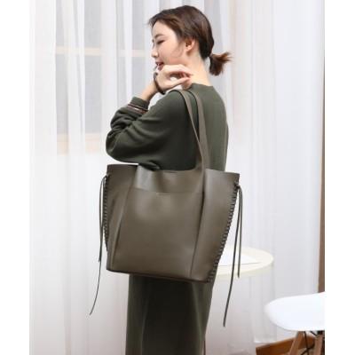 (UNGRID bag/アングリッド バッグ)ナチュラルグレインシンプル軽量トート/レディース KHA