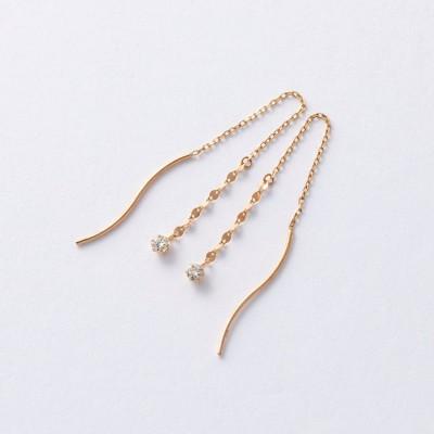 10金ダイヤモンドピアス[日本製](アルコアイリス/ARCOIRIS)