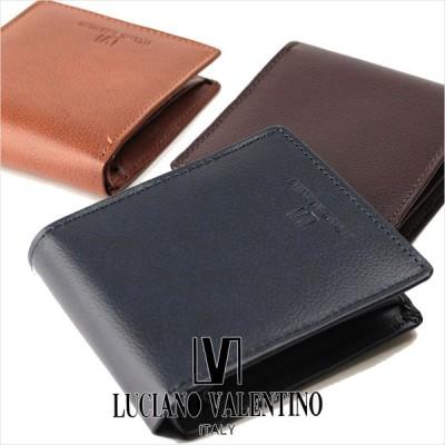 二つ折り財布 メンズ 本革 ルチア—ノ バレンチノ LUCIANO VALENTINO 財布 サイフ LUV-8002  返品交換不可(メール便配送商品)