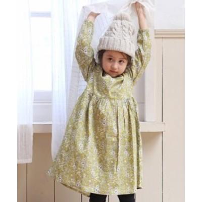 子供服 総柄 チェック柄 花柄 ドット柄 長袖 リラックス ワンピース || 女の子 男の子 ベビー キッズ ドレス