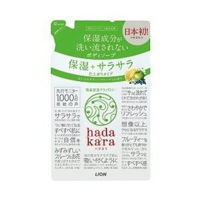 ハダカラ ボディソープ 保湿+サラサラ仕上がりタイプ グリーンフルーティの香り 詰替 340mL