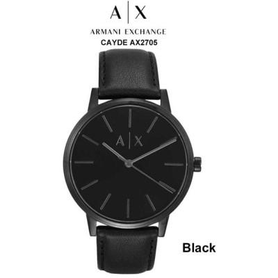ARMANI EXCHANGE(アルマーニエクスチェンジ)A|X メンズ 防水 腕時計 レザーバンド クオーツ アナログ CAYDE AX2705