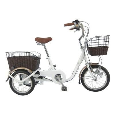SWING CHARLIE MG-TRE16G ホワイト ロータイプ三輪自転車(16/14インチ) メーカー直送