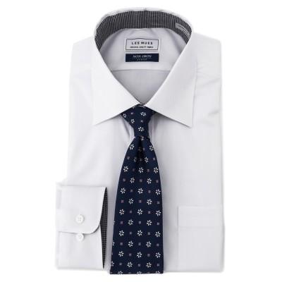 ワイドカラーシャツ ノンアイロンストレッチ レギュラーフィット LES MUES