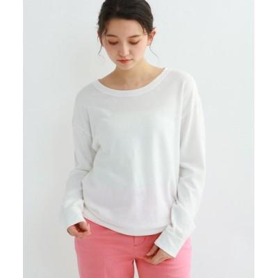 JET/ジェット 【ウォッシャブル】コットンバックプリントTシャツ ホワイト(001) 04(M)