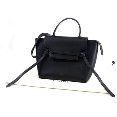 富士屋◆送料無料◆セリーヌ CELINE マイクロ ベルトバッグ 189153ZVA.38NO カーフスキン 黒 ブラック 2WAYバッグ