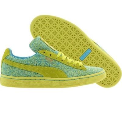 ユニセックス スニーカー シューズ Puma x Solange Women Suede Classic Lines (yellow / sulphur spring / blue atoll)