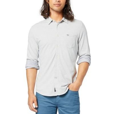 ドッカーズ シャツ トップス メンズ Men's Alpha 360 Slim-Fit Stretch Shirt Egret