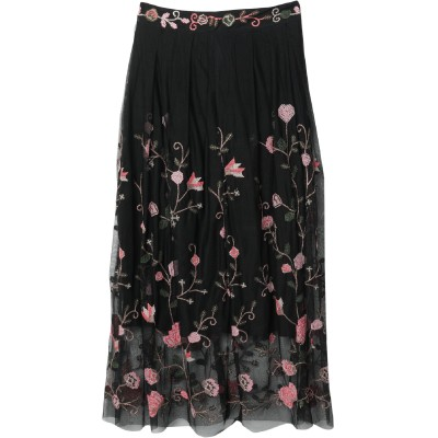 MY TWIN TWINSET ロングスカート ブラック S ポリエステル 100% ロングスカート