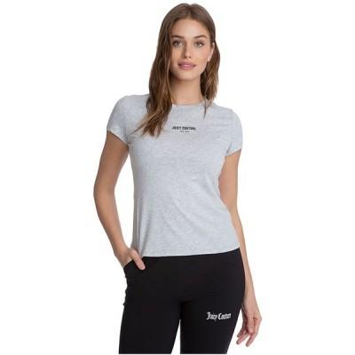ジューシークチュール シャツ トップス レディース Crew Neck T-Shirt Grey Powder/Heather