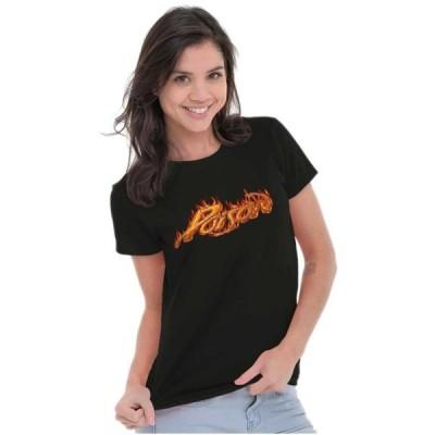 レディース 衣類 トップス Poison Tees Shirts Tshirts For Womens Licensed Classic Rock Flames Merch 80s Tシャツ