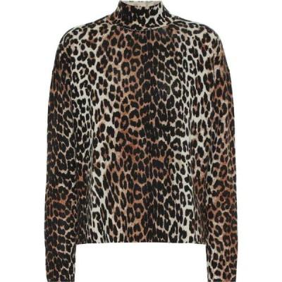 ガニー Ganni レディース ニット・セーター トップス Printed Wool And Yak Sweater Leopard