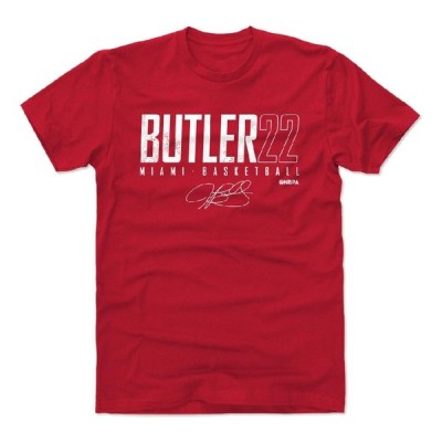 ジミー・バトラー Tシャツ NBA マイアミ・ヒート Miami Elite T-Shirts 半袖 500Level レッド