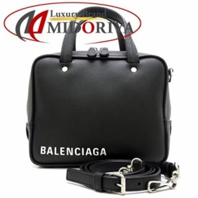 バレンシアガ BALENCIAGA 528544 トライアングル スクエアXS 2WAY ハンドバッグ 斜め掛けショルダー ゴートスキン 黒 ブラック/057159【