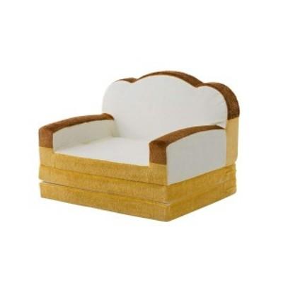 食パン ソファーベッド 〔1人掛け〕 幅800×奥行600~1780×高さ440~600mm スチールパイプ ウレタンフォーム 日本製 〔送料無料〕