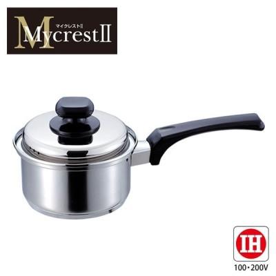 大感謝価格『Mycrest(マイクレスト) ステンレス片手鍋 14cm MT-14S (229シリーズ)』『メーカー直送品。代引不可・同梱不可・返品キャンセル・割引不可』深型 調