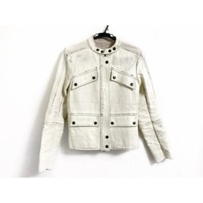 アイザックセラム ISAAC SELLAM ライダースジャケット サイズ36 S メンズ - アイボリー 長袖/春【中古】20201222