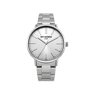 Ben Sherman wb061smメンズシルバートーンスチールブレスレット腕時計