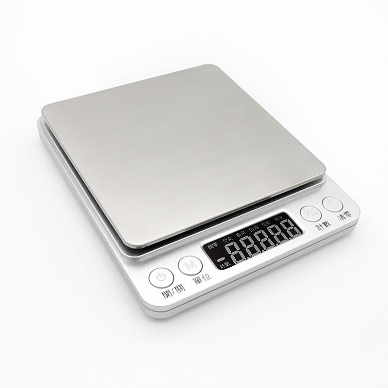 不鏽鋼電子秤 3000g/500g 繁中版[LifeShopping][現貨+保固]料理秤  (非交易用秤)